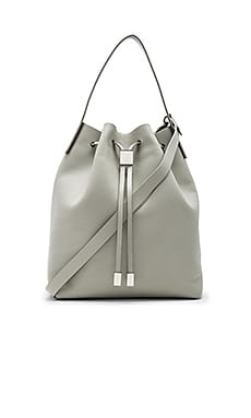 Yuri Bucket Bag in Cement & Silver