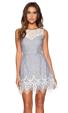 MINDI LACE TRIM DRESS