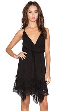 Greylin Mulani Hanky Dress in Black