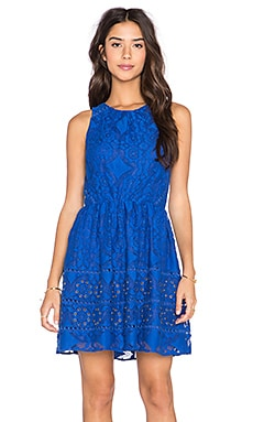 Greylin Yunis Grommet Lace Dress in Azul
