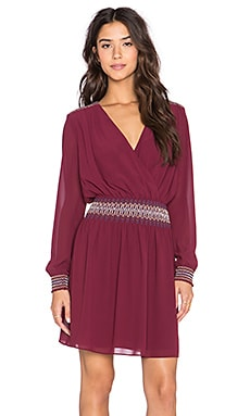 Greylin Ellie Smocked Dress in Merlot