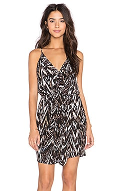 Greylin Rowan Silk Crossfront Dress in Cinnamon