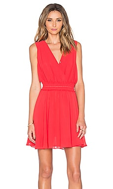 Odelle Cinched Waist Dress in Hibiscus