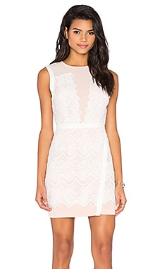 Lana Two Tone Lace Dress in White