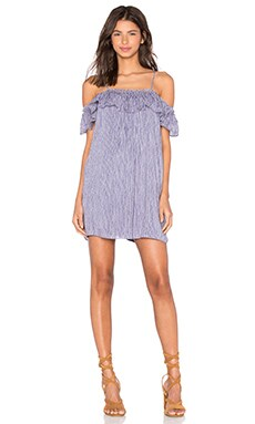 Greylin Chantal Off Shoulder Cami Dress in Blue