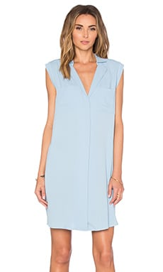 Stuart Shirtdress in Powder Blue