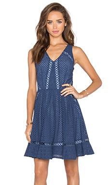Sammy Eyelet Lace Dress in Ocean