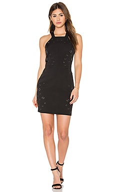 Greylin Lani Grommet Halter Dress in Black