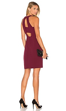 Cecilia Halter Dress in Wine