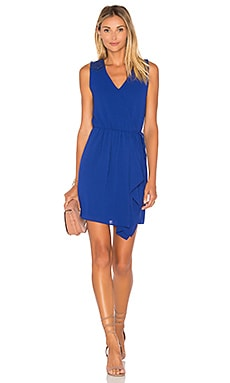 Leah Embroidered Ruffled Dress in Cobalt