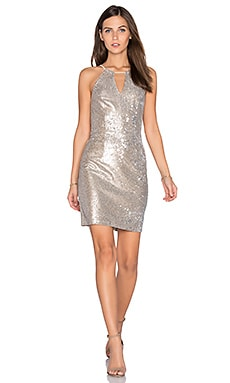 Taylor Sequin Dress in Nude