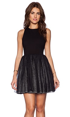 Greylin Vanessa Tulle Dress in Black