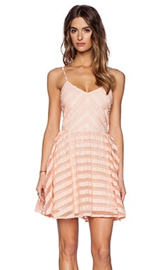 Greylin Finley Skater Dress in Peach