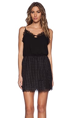 Greylin Chevy Grid Dress in Black