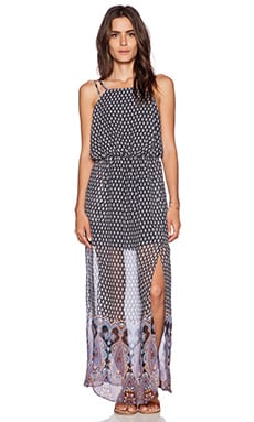 Greylin William Border Maxi Dress in Indigo