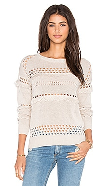 Greylin Isla Fringe Sweater in Sand