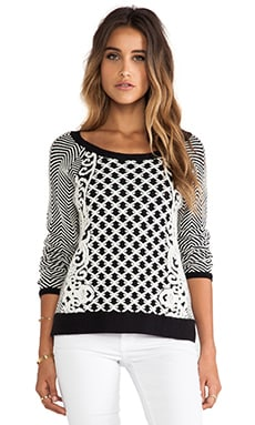 Greylin Viv Sweater in Black and White
