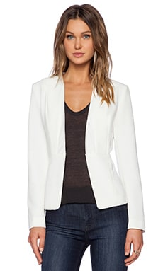 Greylin Mia Collarless Blazer in White
