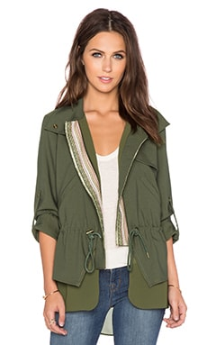 Greylin Klark Twofer Jacket in Olive