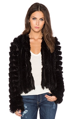 Greylin Natalia Faux Fur Jacket in Black