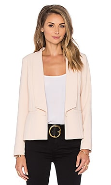 Krissa Pleated Back Blazer en Rubor