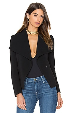 Manda Oversized Collar Blazer in Black