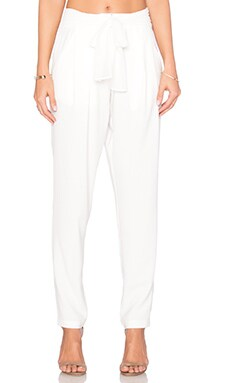 Thalia Belted Pant in White