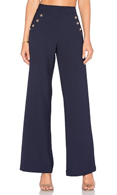 Alba High Waist Pant in Navy