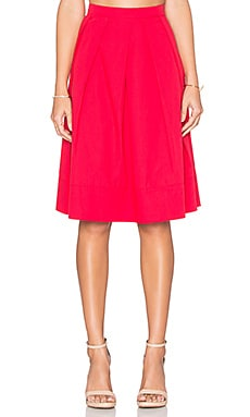 Greylin Tropez Pleated Midi Skirt in Hibiscus