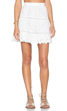 Greylin Kellie Eyelet Skirt in White