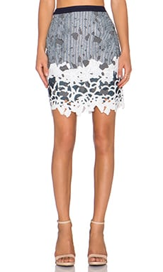 Greylin Aster Lace Pencil Skirt in Navy