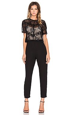 Greylin Kiran Lace Jumpsuit in Black