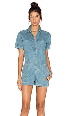 Lia Denim Romper in Chambray