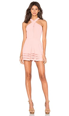 Millany Laser Cut Romper in Blush