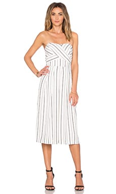 Greylin Nina Culotte Jumpsuit in White