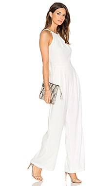 Dina Wideleg Jumpsuit in White