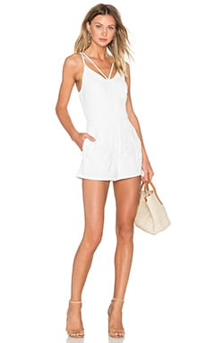 Greylin Jaylee Lace Applique Romper in White