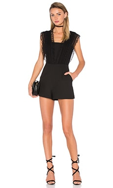 Greylin Esme Crochet Romper in Black