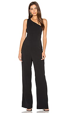 Laurel One Shoulder Jumpsuit in Black