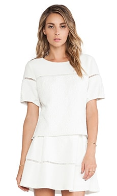 Greylin Bruna Textured Top in Ivory