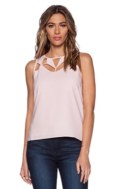 Greylin Delaware Cutout Top in Chalk Pink