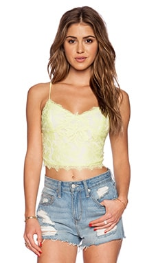 Greylin Stasia Floral Lace Cami in Citron