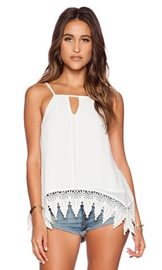 Greylin Miranda Keyhole Lace Top in White