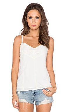 Greylin Burma Crochet Trim Cami in White