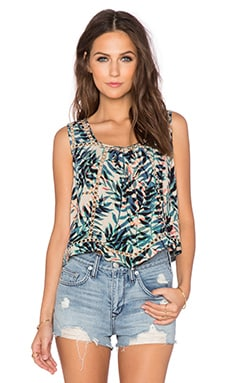 Greylin Fern Cropped Top in Lagoon