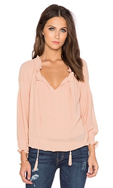 Greylin Silvie Smocked Blouse in Blush
