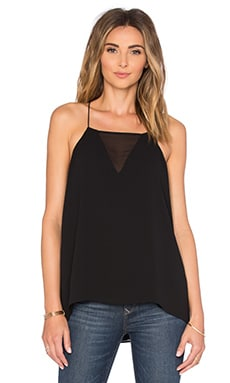 Salma Sheer Front Cami in Black