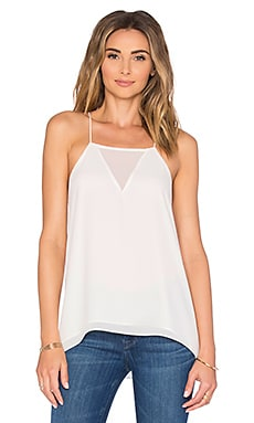 Salma Sheer Front Cami in White