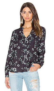 Greylin Benson Floral Blouse in Black