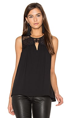 Cynthia Lace Top in Black